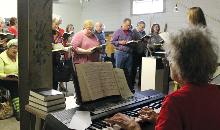 Members of the Spindletop Unitarian Church, above, are meeting at The Art Studio, Inc. while they seek a new venue.