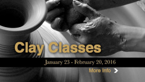Clay Classes Begin January 23rd!
