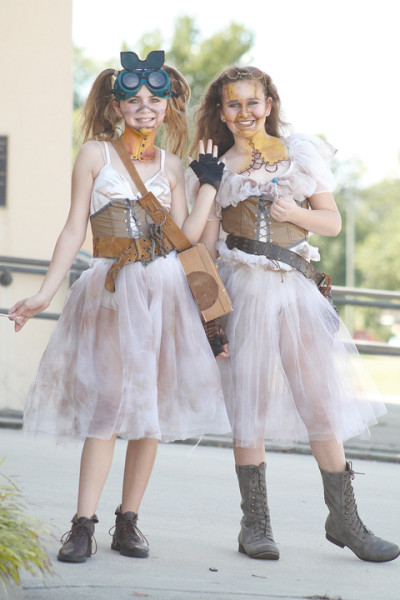 Steampunk fairies represented Divergent Theater at Montage 2014.