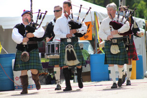 Bagpipers at Montage 2014.