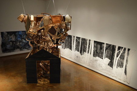 "Hollis Hammonds exhibition ""wasteland/wonderland"" is on display at the Dishman Art Museum through March 6."