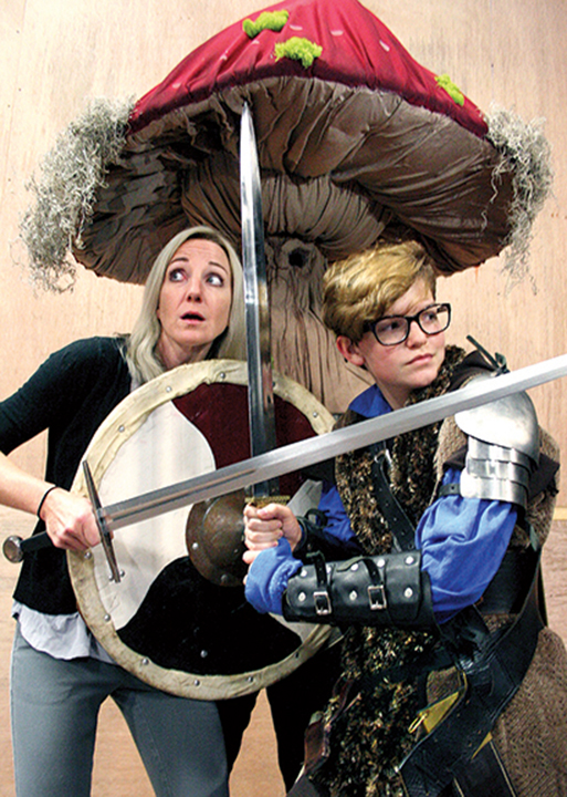 """Agnes, played by Mary Hooker, left, joins her sister Tillie, Wyatt Curry, in a Dungeon's and Dragons game that is more than just a game, during """"She Kills Monsters,"""" presented by Beaumont Community Players and Ad-Hoc Beaumont, beginning Oct. 14"""